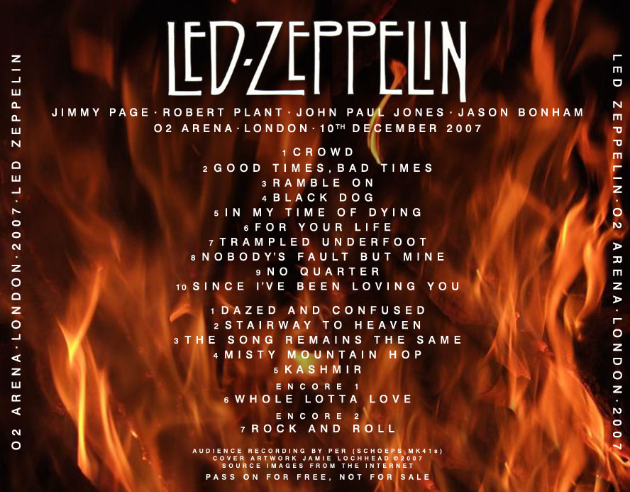 led zeppelin o2 per