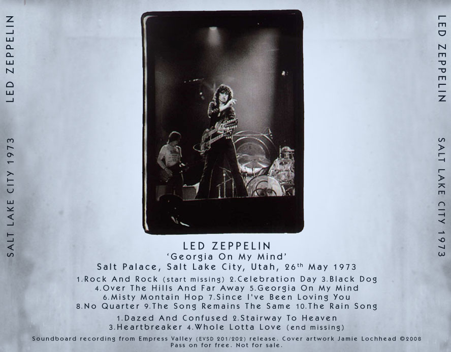 led zeppelin salt lake city