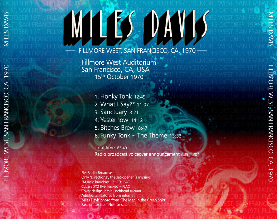 miles davis fillmore west 70